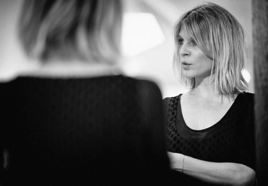 Clémence Poésy en pleine session de travail