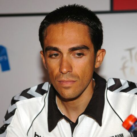 Alberto Contador, la chute!