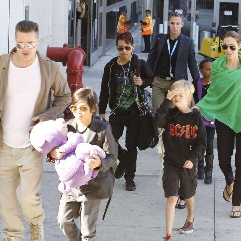 Les Brangelina et leurs enfants, de retour aux Etats-Unis