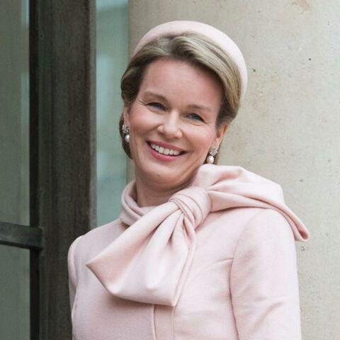 Photos – Mathilde de Belgique illumine l'Élysée