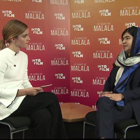Moment d'émotion entre Emma Watson et Malala Yousafzai