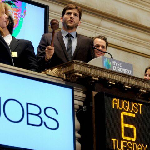 Ashton Kutcher sonne la cloche à la bourse de New York