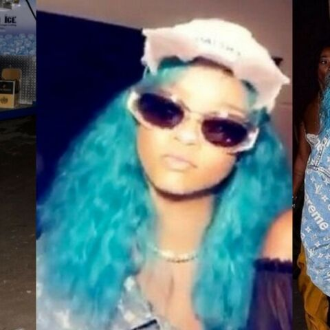 PHOTOS – Rihanna ose les cheveux bleus en vacances à la Barbade