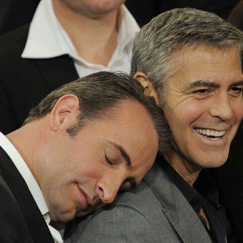 Photos- Les facéties de Jean Dujardin et George Clooney