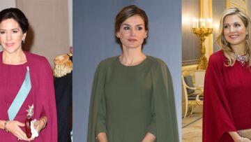 PHOTOS – Letizia d'Espagne, Mary du Danemark et Maxima des Pays-Bas craquent pour la robe à cape