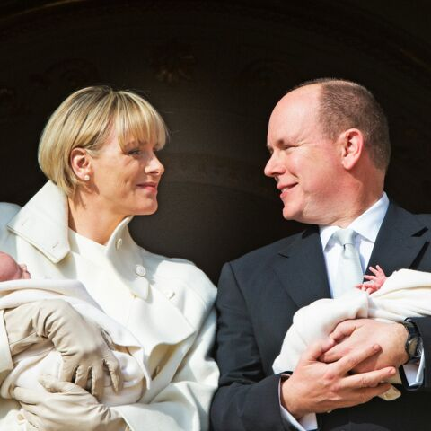 Jacques et Gabriella de Monaco devant les Monégasques