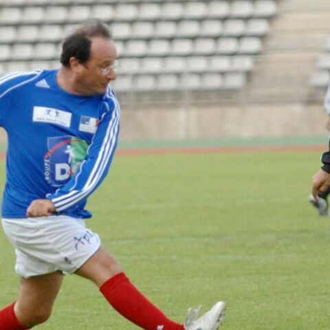 Photos – Nicolas Sarkozy, François Hollande … Tous accros au foot