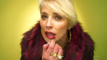 Vidéo – Sharon Stone étonne en icône du bling-bling