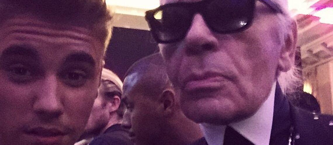 Justin Bieber et Karl Lagerfeld fricotent