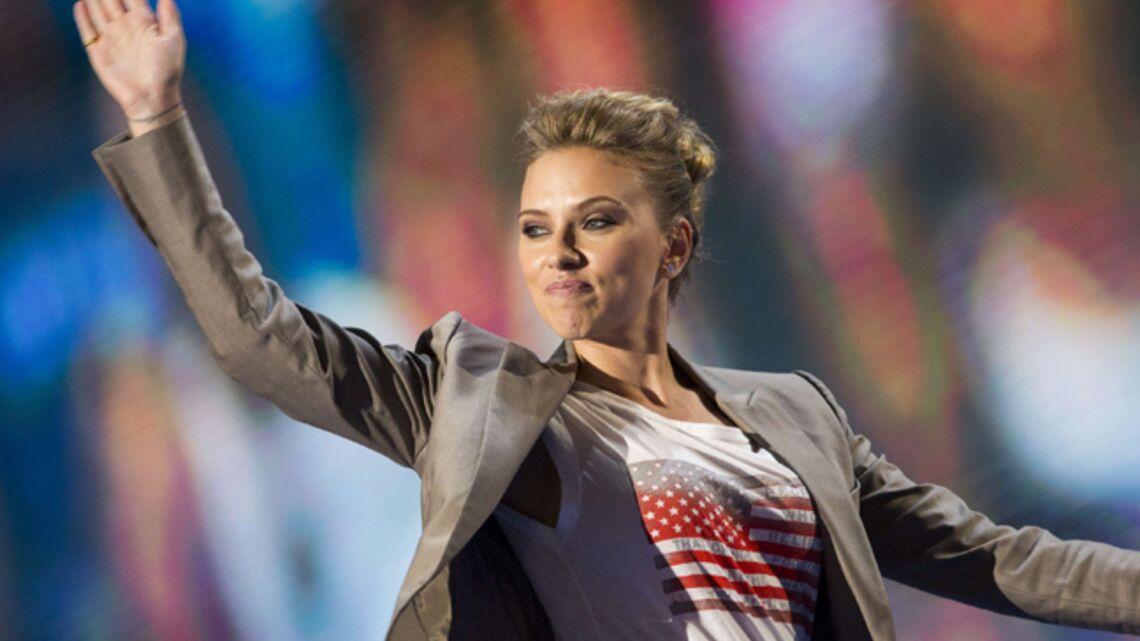 Photos, vidéo- Scarlett Johansson et Eva Longoria, sur scène pour Barack Obama