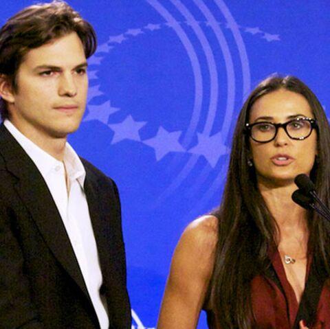 Retrouvailles entre Ashton Kutcher et Demi Moore aux Golden Globes