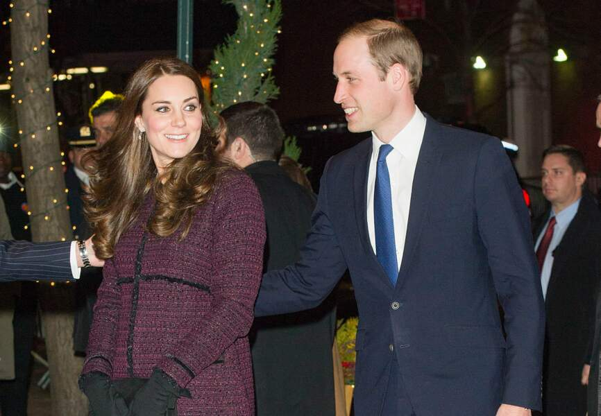 La duchesse de Cambridge arrive à New York dans un manteau Séraphine