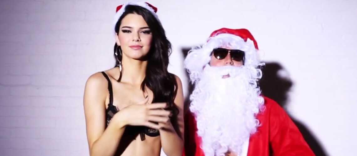 Kendall Jenner, en lingerie pour Noël