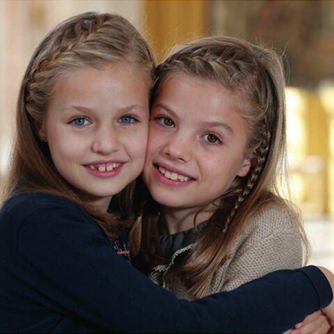 Tresses siamoises de Noël pour Leonor et Sofia d'Espagne