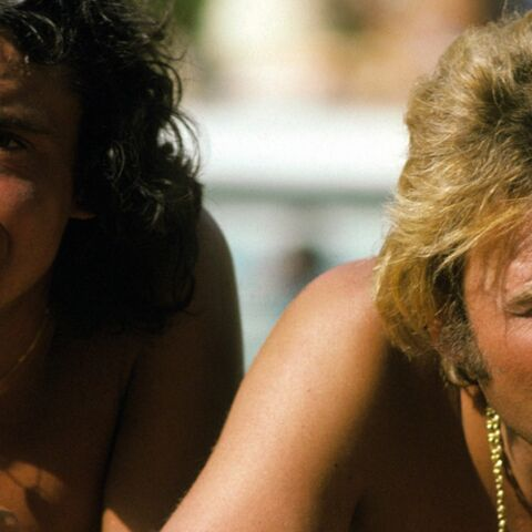 PHOTOS-  Michel Sardou et Johnny Hallyday: meilleurs ennemis