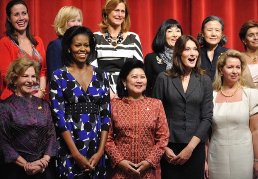 Difficile de passer à côté de Michelle Obama lors du sommet du G20 en septembre 2009