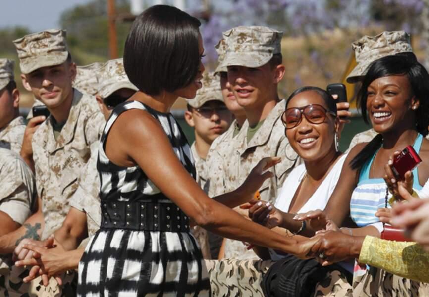 En juin 2010 discours tout en chic au camp des Marines de Pendleton