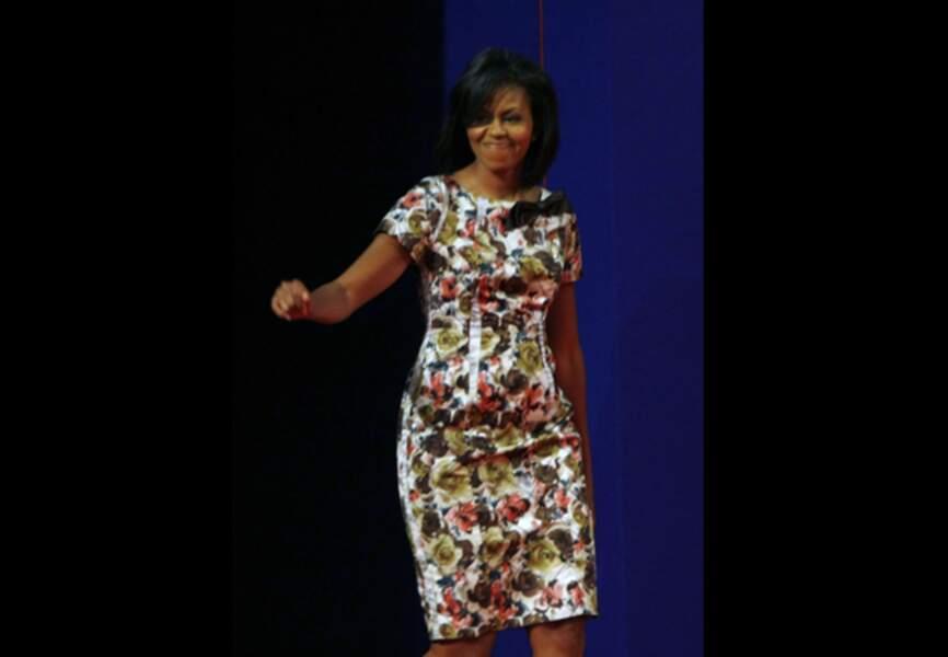 Lors du débat de son mari Barack Obama en septembre 2008 à l'université du Mississipi