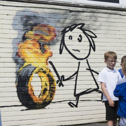 L'incroyable cadeau de Banksy à une école de Bristol