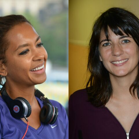 Karine Le Marchand et Estelle Denis joggeuses sexy pour la journée de la femme