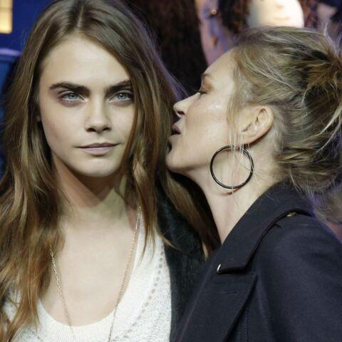 Kate Moss et Cara Delevingne inaugurent Noël au Printemps
