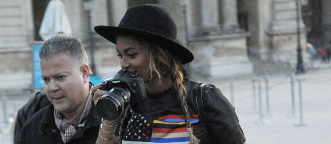 Beyoncé et Jay Z: séance photo en famille au Louvre