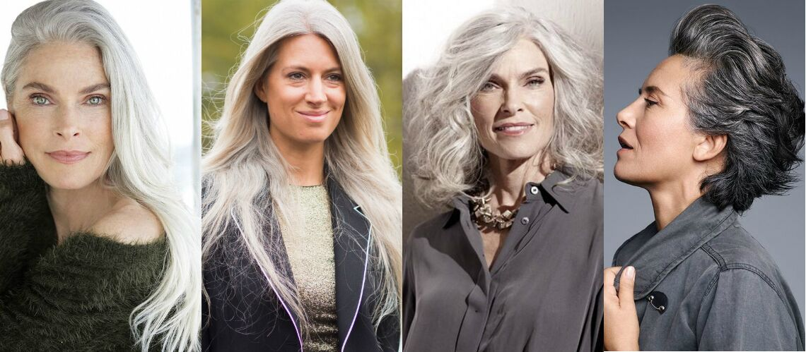 Cheveux blanc au naturel