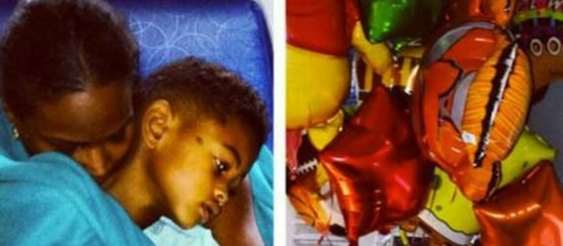Usher: la photo de son fils hospi­ta­lisé