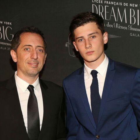 Gad Elmaleh, heureux à New York avec son fils