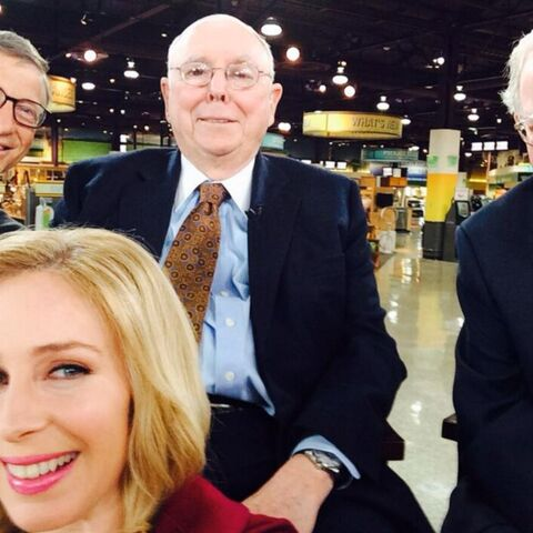 Bill Gates, Warren Buffet: un selfie en or