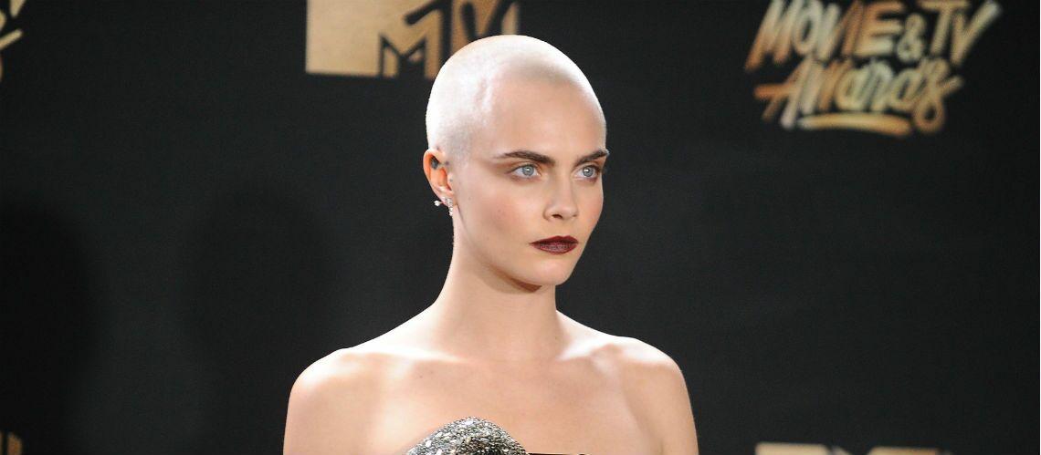 Cara Delevigne: son crâne maquillé affole les MTV Awards