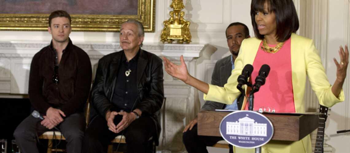 Justin Timberlake sous le charme de Michelle Obama