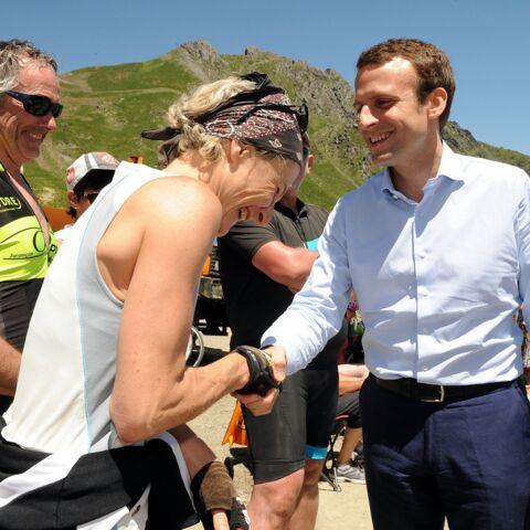 Emmanuel Macron en marche sur le Tour de France
