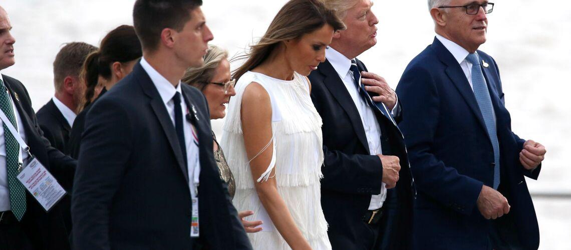 PHOTOS – Melania Trump: canon dans une petite robe blanche à volants au G20