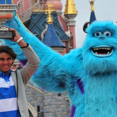 Rafael Nadal fête sa victoire à Disneyland Paris