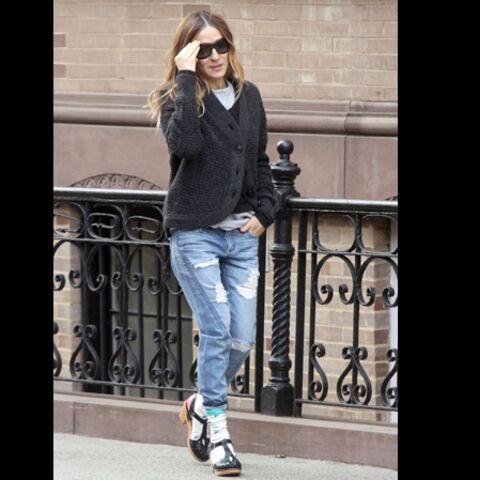 Sarah Jessica Parker, l'actrice ose la chaussette dans la sandale