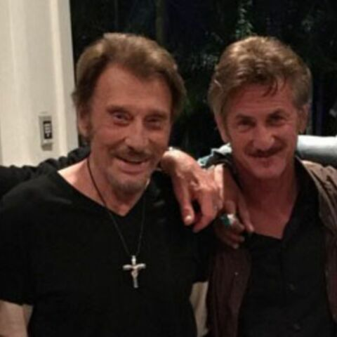 Johnny Hallyday passe une soirée avec ses potes Sean Penn et Lenny Kravitz