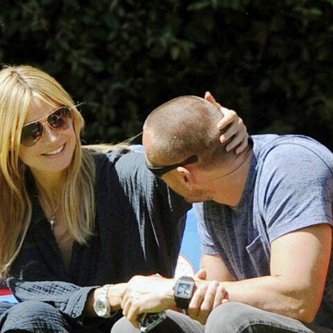 Heidi Klum, collée à son boyfriend