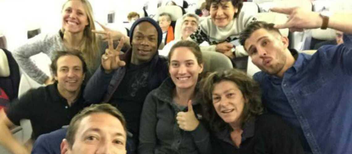 Arthaud, Muffat, Wiltord, Bernard, Longo: le selfie du casting de Dropped