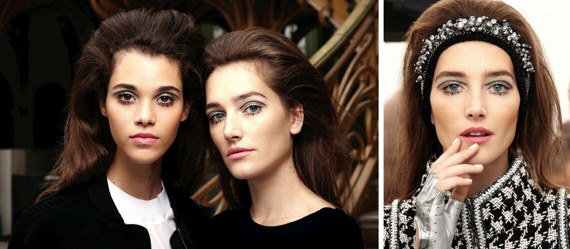 Comment se faire le regard intense et les cheveux maxi volume vus sur le défilé Chanel