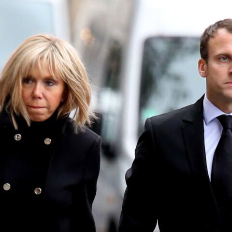 PHOTOS – Emmanuel Macron et Brigitte Trogneux, unis dans la douleur à l'enterrement de leur témoin de mariage