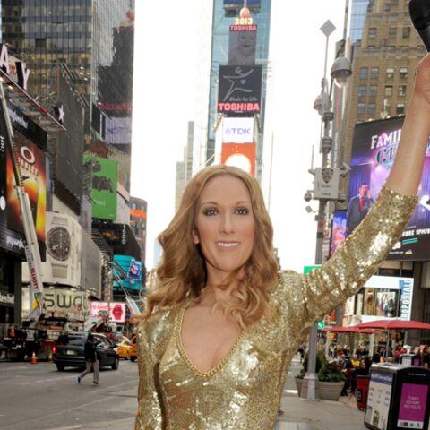 Céline Dion, cire radieuse à Time Square