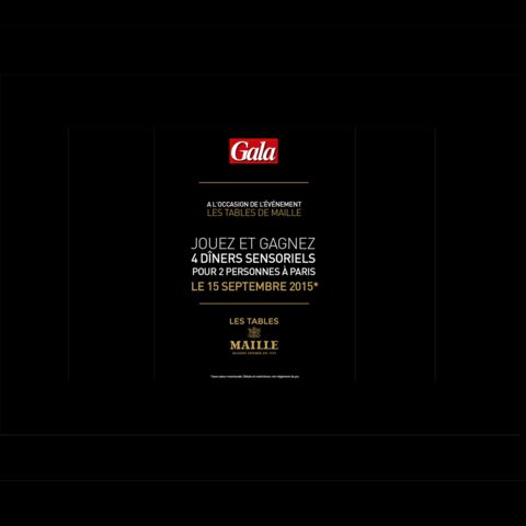 Jeu concours: Gagnez un dîner sensoriel pour deux avec Gala