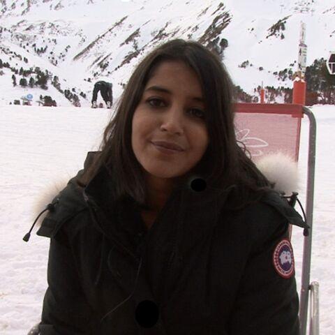 Leïla Bekhti en haut des pistes