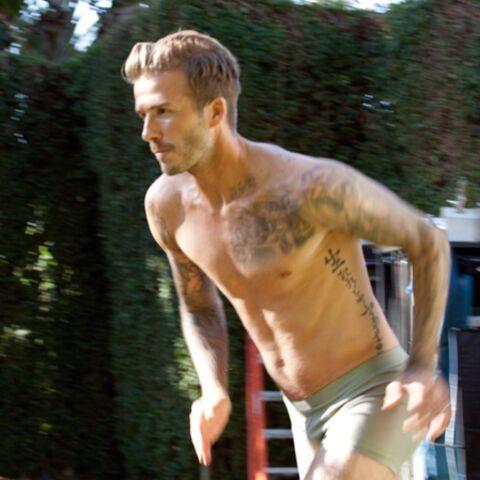 David Beckham, héros en slip