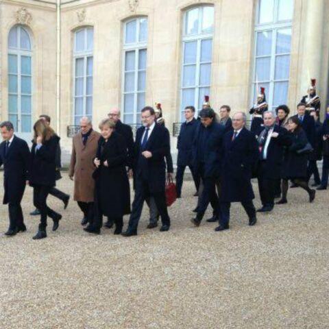 Rania de Jordanie, Carla Bruni: en tête du cortège présidentiel