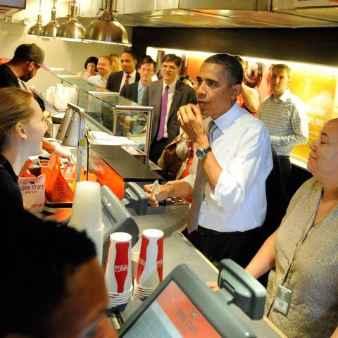 Quand Barack Obama coupe la file d'attente d'un restaurant…
