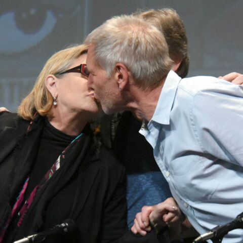 Star Wars- Harrison Ford et Carrie Fisher échangent un baiser