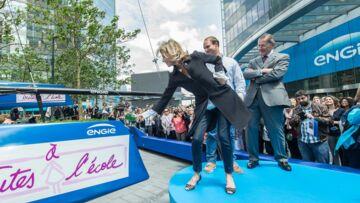 Claire Chazal baptise le catamaran Engie GC32