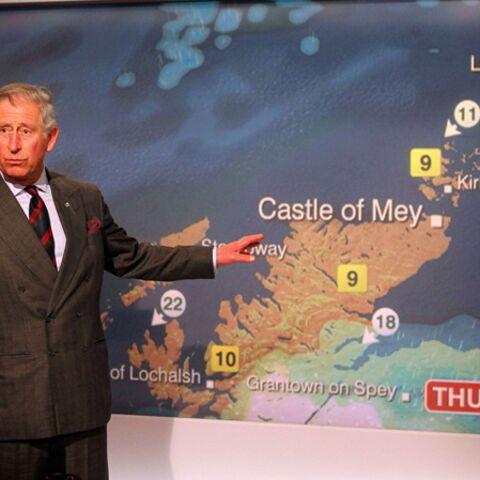 Le prince Charles présente la météo sur la BBC